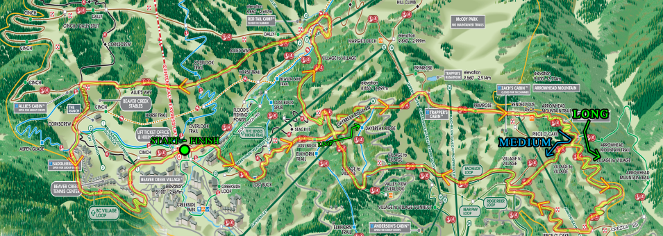 Beaver Creek Blast course map